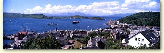 Panoramic View of Oban Bay