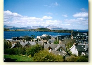 View from Roseneath Guest House, Oban